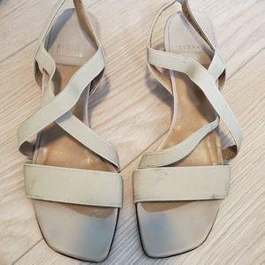 Stuart Weitzman Beige/tan Strappy Sandals